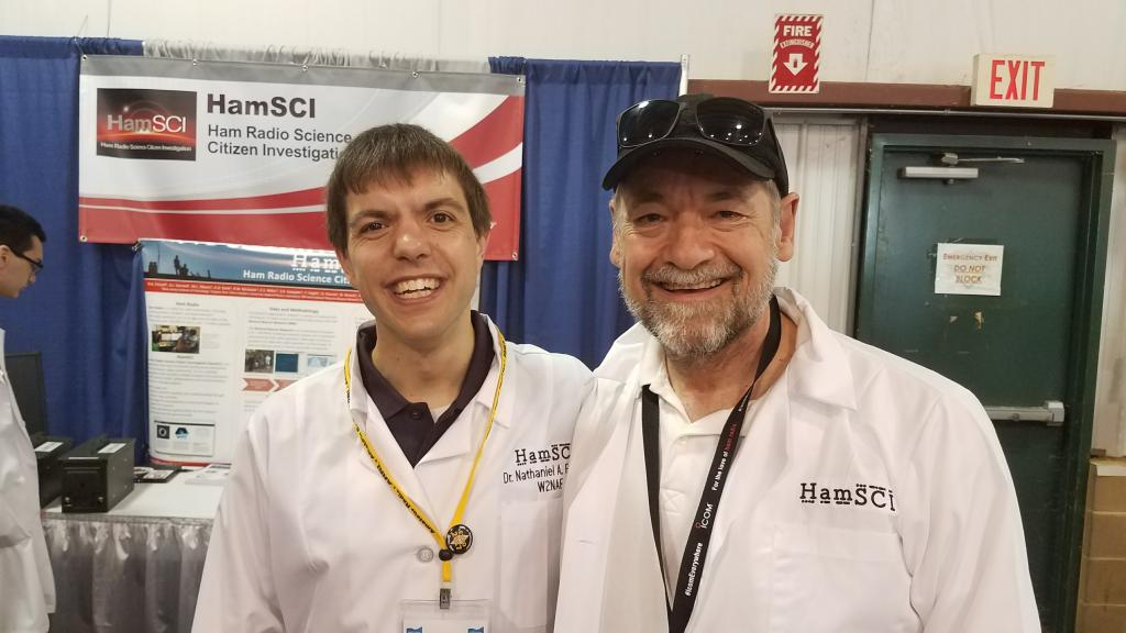 Bob Schubert KC2FNE and Nathaniel Frissell W2NAF